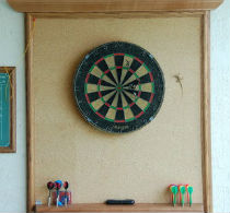 Cork floor dartboard surround