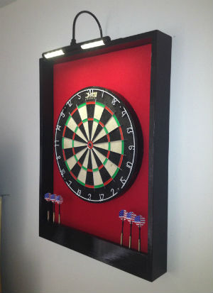 Framed felt dartboard surround