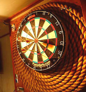Rope dartboard surround