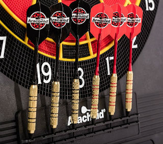 Supplied darts with Arachnid Cricket Pro 800 scoreboard