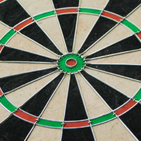 tri-color dartboard profile