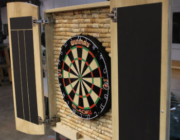 11 Very Crafty Dartboard Cabinets To Hide Away Your Dartboard 8