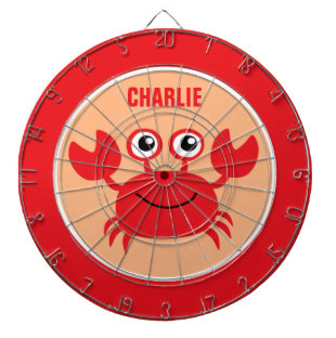Children's happy crab dartboard