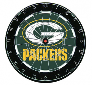 Green Bay Packers NFL dartboard