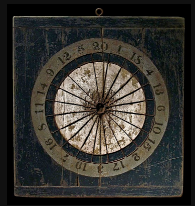 Navy antique dartboard