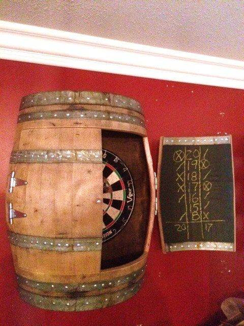 11 Very Crafty Dartboard Cabinets To Hide Away Your