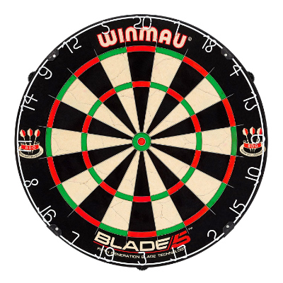 The Winmau Blade 5 Dartboard
